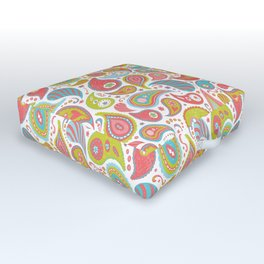 Power Paisley Outdoor Floor Cushion