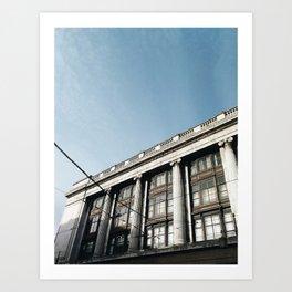 Architecture in Nottingham city centre Art Print