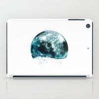 lunar iPad Cases featuring lunar water by sustici