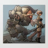 steampunk Canvas Prints featuring steampunk by Joël Jurion