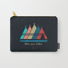 Nature Speak: Wise Man Listen Carry-All Pouch