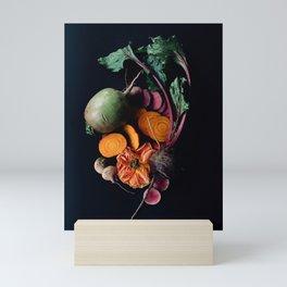 Moody Root Vegetables and Rose Mini Art Print
