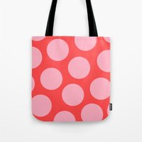 bubblegum Tote Bags featuring Bubblegum by Color & Theory