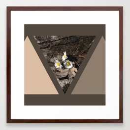 geometrical pastel rustic Framed Art Print