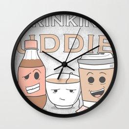 Drinking Buddies Wall Clock