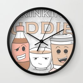 Drinking Buddies Wall Clock