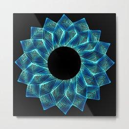 Inverted Threaded Lotus Metal Print