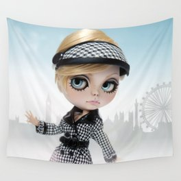 Erregiro Blythe Custom Doll Twiggy in London Wall Tapestry