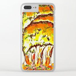 Tree Copse in Autumn Clear iPhone Case