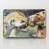 tigers iPad Cases featuring Tigers by Irene Jaramillo