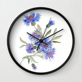 Bachelor's Buttons Wall Clock