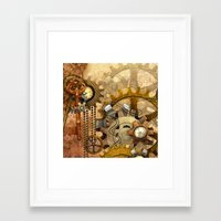 steampunk Framed Art Prints featuring steampunk by Ancello