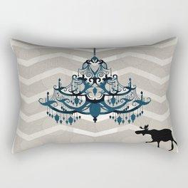 A Moose finds home Rectangular Pillow
