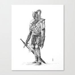 """Turin"", dragonslayer, black blade of Nargothrond Canvas Print"