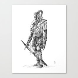 """Turin"", dragonslayer, black blade of Nargothrond Canvas Print"