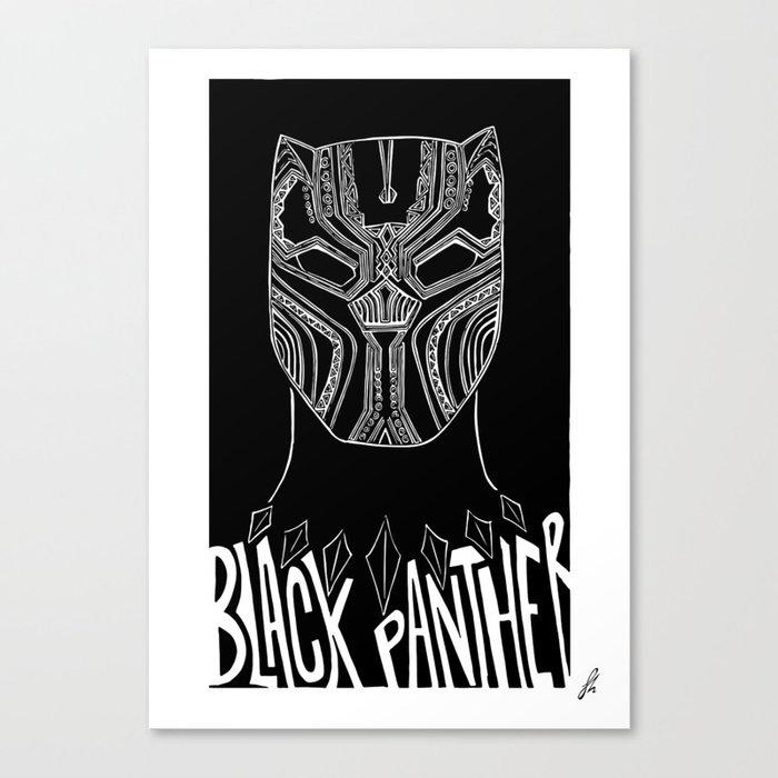 Wakanda // Black P. - Alternative Movie Poster Canvas Print