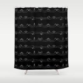 scription in dark Shower Curtain
