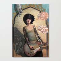 rock Canvas Prints featuring Rock the Casbah by Rudy Faber