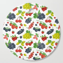 Colorful Berries Pattern Cutting Board