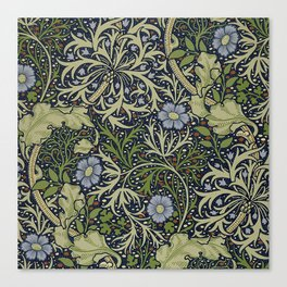 William Morris Seaweed Pattern Canvas Print