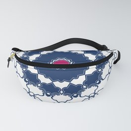 Red blue ornament 2 Fanny Pack