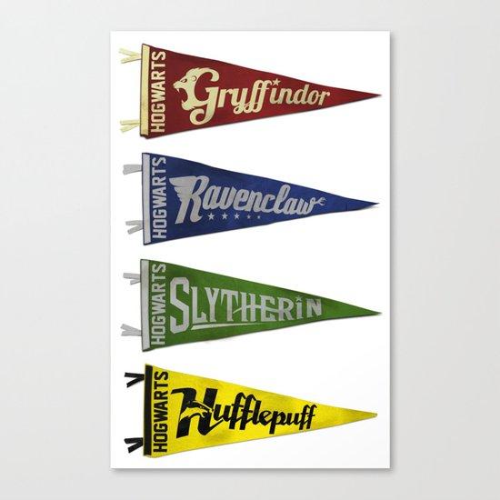 Vintage Hogwart's Pennant Collection Canvas Print