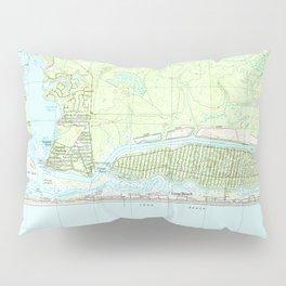 Oak Island North Carolina Map (1990) Pillow Sham