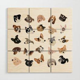 Dog Overload Portraits Wood Wall Art