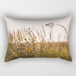 Sunflower Dreams & Windmill Memories... Rectangular Pillow