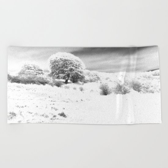 Haresfield In The Snow Beach Towel