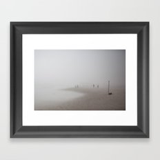 Fog on the Beach, Ocean City, NJ Framed Art Print