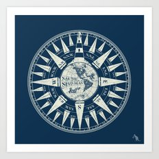 Sailors Compass Art Print