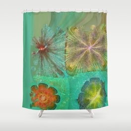 Hallowed Layout Flowers  ID:16165-043715-02000 Shower Curtain