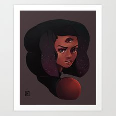 Garnet 3-eye portrait Art Print