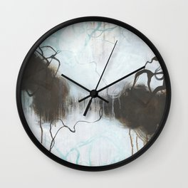 Into the Storm - Square Abstract Expressionism Wall Clock