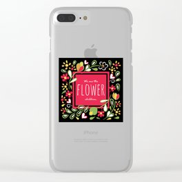 We are the Flower Children Clear iPhone Case