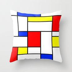 Mondrian2 Throw Pillow