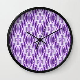 Diamond Pattern in Purple and Lavender Wall Clock