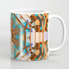 Geometric kaleidoscope with optical effects Coffee Mug
