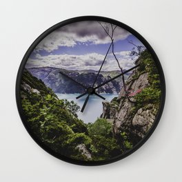 Norvegian flag Wall Clock
