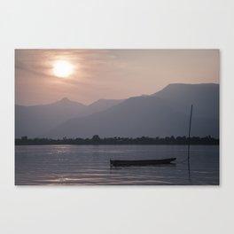 Sunset at Mekong Canvas Print