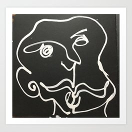 Caras sem nome Art Print