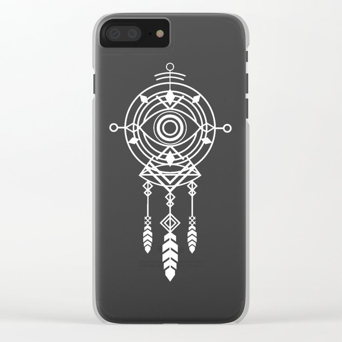 Cosmic Dreamcatcher Clear iPhone Case