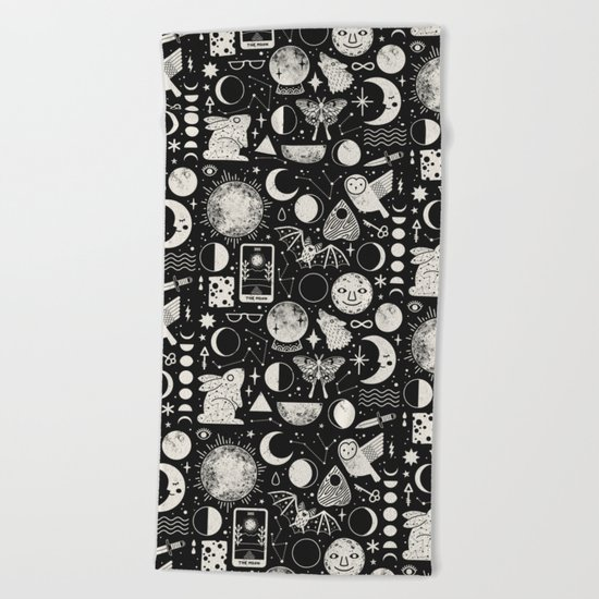 Lunar Pattern: Eclipse Beach Towel