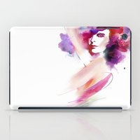 woman iPad Cases featuring woman by tatiana-teni
