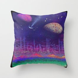 earth to space 1 by ruckas Throw Pillow