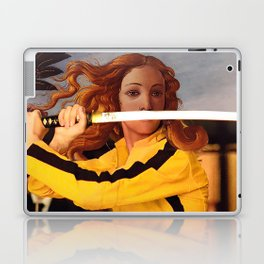 Botticelli's Venus & Beatrix Kiddo in Kill Bill Laptop & iPad Skin