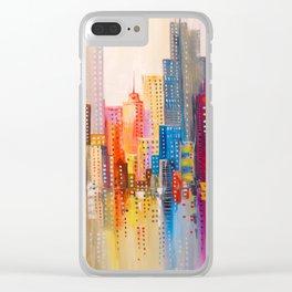 Rainbow city Clear iPhone Case
