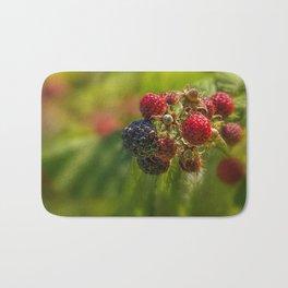 Rasberry Harvest Bath Mat