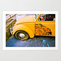 volkswagon Art Prints featuring vintage vw and door art by robertbuttery